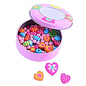Bigjigs Toys Jewellery Making Set in Tin (Pink)