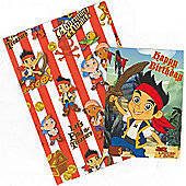 Gem Jake and The Neverland Pirates Wrapping Paper, Birthday Card and Gift Tags Pack