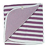 Pigeon Organics Reversible Blanket, Broad Stripe (Raspberry)