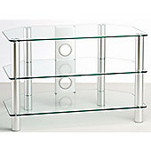 ValuFurniture Classik 600 Clear Glass TV Stand