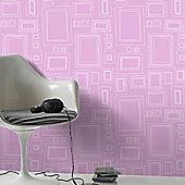 Graham & Brown Frames Wallpaper - Pink