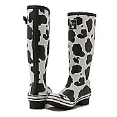 Evercreatures Ladies Evergreen Wellies Cow Print Pattern 5
