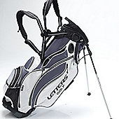 John Letters Unisex Torrance Golf Bag (Stand) in Grey & Black & White