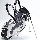 John Letters Unisex Torrance Golf Bag (Stand) in Grey & Black & White