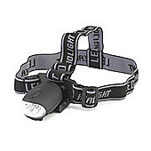 Yellowstone Wind-up 3 LED Head Torch Black with Lithium Battery