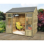 8ft x 6ft Winchcombe Summerhouse - 8 x 6 Assembled Garden Wooden Summerhouse 8x6