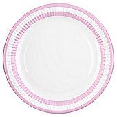 Table Fun Pink Striped Rim Paper Plate 24cm, 8 Pack