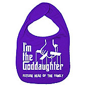 Dirty Fingers I'm the Goddaughter future head of the family Bib Purple