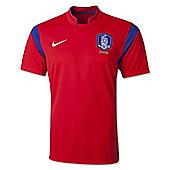 2014-15 South Korea Home World Cup Football Shirt - Red