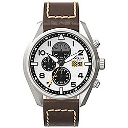 Grayton Harrier Mens Leather Chronograph Date Watch GR-0014-006.2