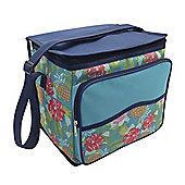 Country Club Large Cooler Bag, Tropical Blue, 28cm x 20cm x 27cm