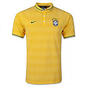 2014-15 Brazil Nike Authentic League Polo Shirt (Yellow)