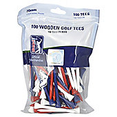 PGA Tour Tees 70mm 100 pack