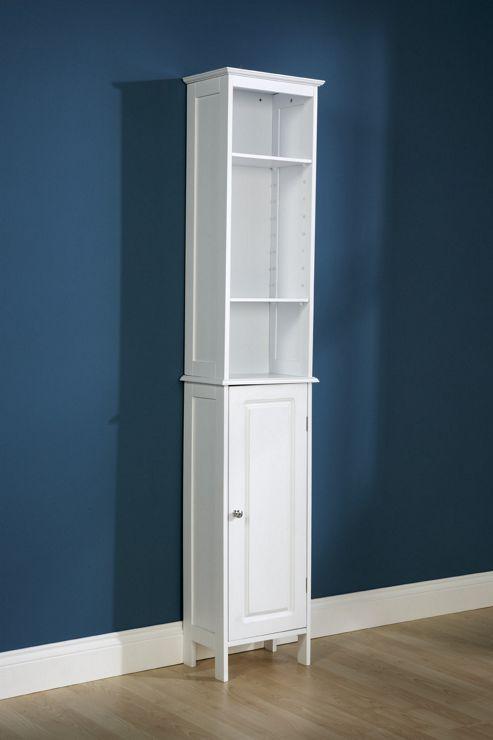 Elements Hummingbird Tall Bathroom Unit in White