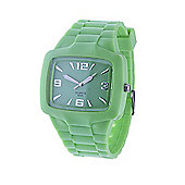 Urban Male Men's Green Rubber Wrist Watch Quartz Movement in green