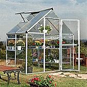 4 x 6 Silver Aluminium Greenhouse