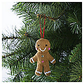Tesco Chilli Knitted Gingerbread Man Hanging Decoration