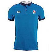 Canterbury England RFU Striped Polo 6 Nations 2016 - Vivid Blue - Blue