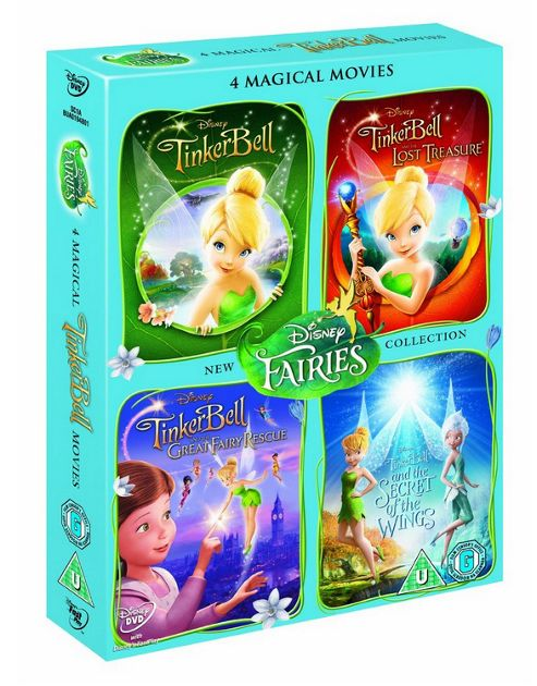 Tinker Bell 4 Movies(Includes Tinker Bell Movie, Lost Treasure, Great Fairy Rescue & Sotw) (DVD Boxset)