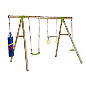 Plum Capuchin Wooden Pole Swing Set