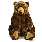 WWF Sitting Brown Grizzly Bear Soft Toy - 47cm