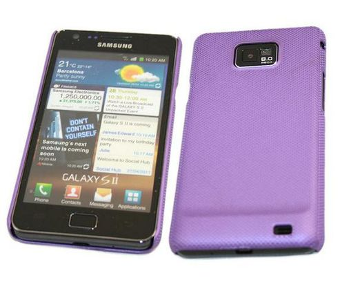 iTALKonline Mesh Hard Protective Case for Samsung i9100 Galaxy S2 - Purple