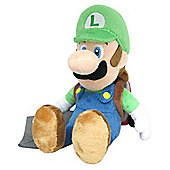 "Official Nintendo Super Mario Plush Series Stuffed Toy - 10"" Luigi with Ghost Vacuum Plush"