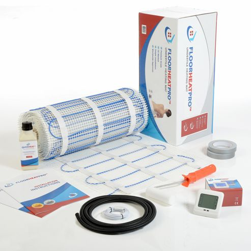 20.0m² - FLOORHEATPRO™ Electric Underfloor Heating Kit - 150w/m² - 3000 watts  including Touchscreen Thermostat  - For use under tile floors