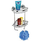 Wenko Magic-Loc Shower Corner Rack with 2 Levels