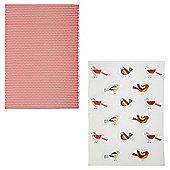 Birds Tea Towel 2 pack
