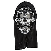 Halloween Plated Hooded Skeleton Mask