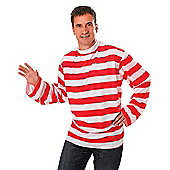 Striped Shirt Red/White - Adult Costume Size: 40-44
