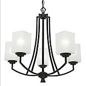 Endon Lighting Five Light Pendant in Painted Metal