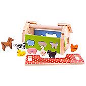 Bigjigs Toys BB064 Farm House Sorter