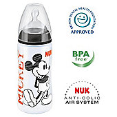 NUK Disney Mickey & Minnie 300ml Bottle Size 2 Teat - Black.