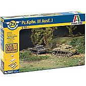 Fast Assembly - Pz/Kpfw. III Ausf. J - 1:72 Scale - 7507 - Italeri