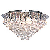 Large Nakita Flush Ceiling Light in Chrome