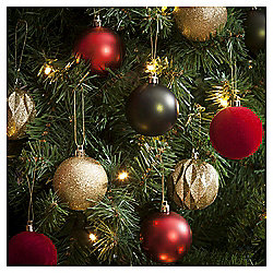 Christmas Baubles, Red and Green, 20 pack