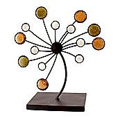 Metal Decorative Tree Ornament - Black / Brown