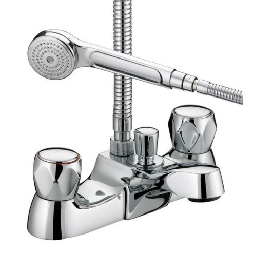 Bristan Value Club Luxury Bath Shower Mixer Tap Chrome Plated with Metal Heads