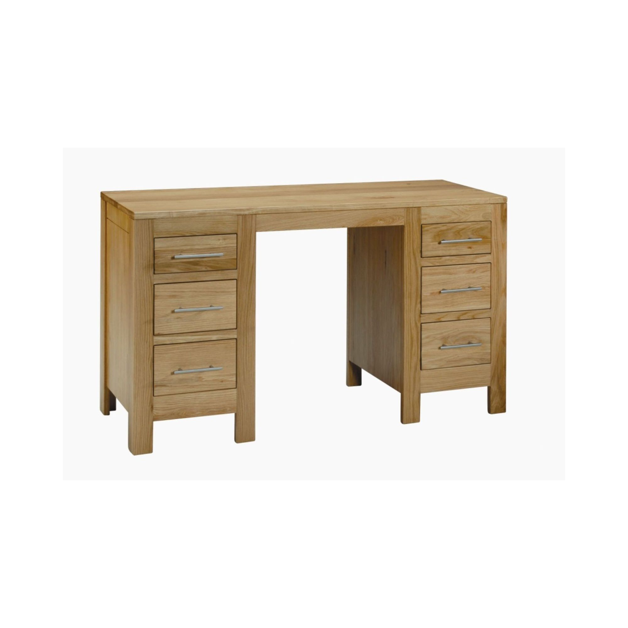 Kelburn Furniture Milano Double Pedestal Dressing Table at Tesco Direct