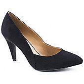 Emilio Luca X Ladies Krystal Black Heeled Court Shoes - Black
