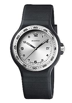 M-Watch Maxi Black Mens Resin Date Watch A661.30615.20.02