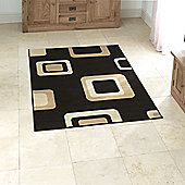 Think Rugs Diamond Black Budget Rug - 160 cm x 220 cm (5 ft 3 in x 7 ft 3 in)