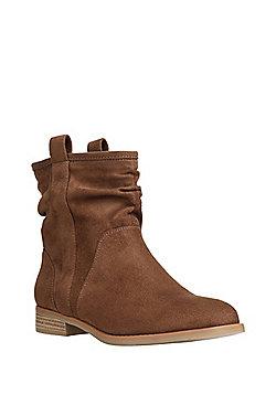 Tesco F F Zip Detail Western Shoe Boots