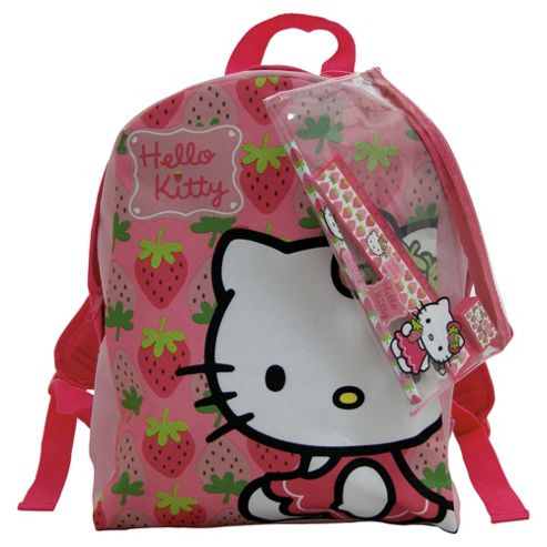 Hello Kitty Kids' Backpack with Stationery