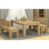 Baumhaus CMR04A Atlas Solid Oak Dining Table - 4 to 6 people