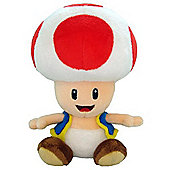 Red Toad - 6.75 inch Plush - New Super Mario Bros Wii Deluxe Plush Series