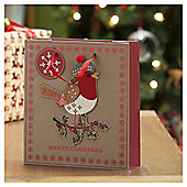 Robin Christmas Gift Bag, Medium