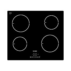Bosch PIA611B68B 592mm 4 Zone Ceramic Induction Hob in Black Glass